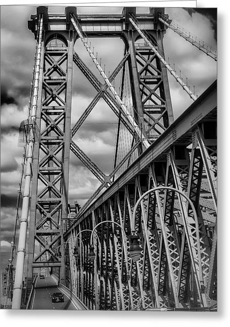Williamsburg Greeting Cards - Williamsburg Bridge Greeting Card by Scott  Wyatt