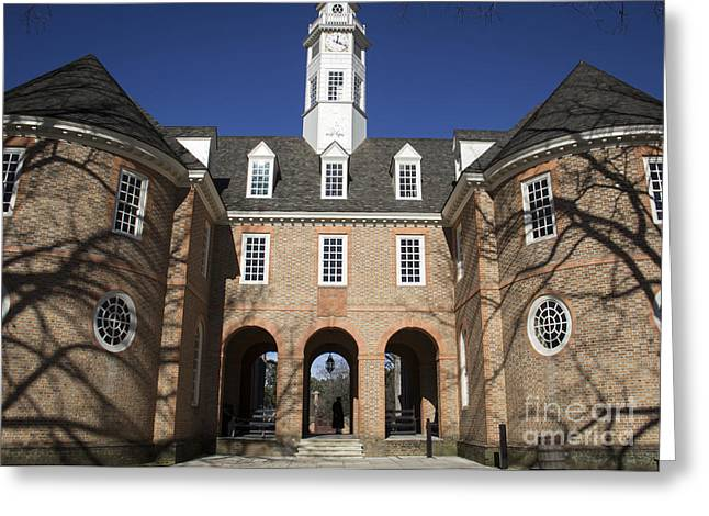 Colonial Flag Greeting Cards - Williamsburg Capitol Greeting Card by Teresa Mucha