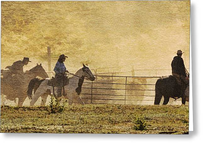 Arizona Cowgirl Greeting Cards - Williamson Valley Roundup 4 Greeting Card by Priscilla Burgers