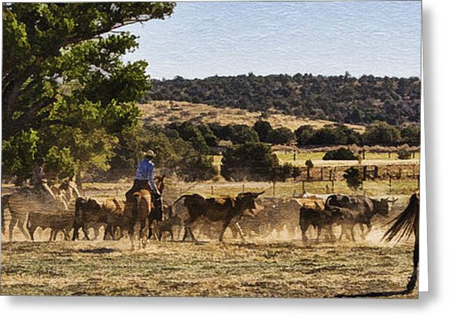 Arizona Cowgirl Greeting Cards - Williamson Valley Roundup 6 Greeting Card by Priscilla Burgers