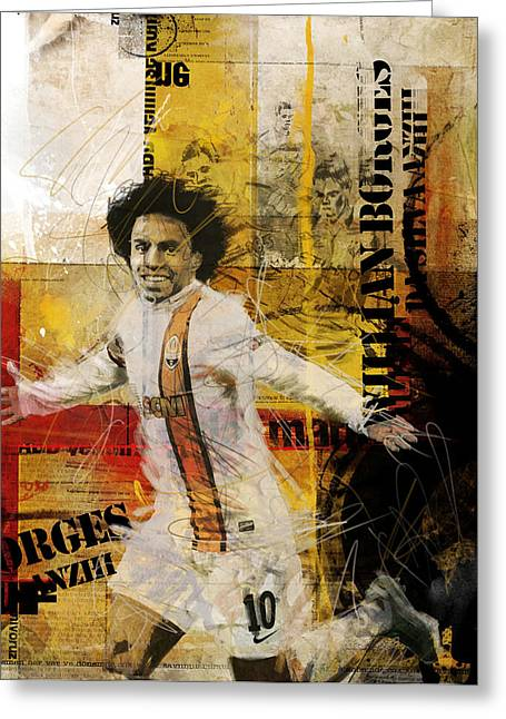 Qatar Greeting Cards - Willian Borges Di Silva Greeting Card by Corporate Art Task Force