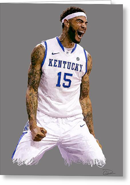 Willie Cauley-stein Greeting Card by Charley Pallos
