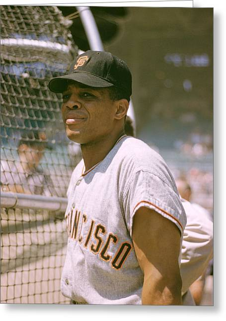 Mvp Photographs Greeting Cards - Willie Mays Greeting Card by Retro Images Archive