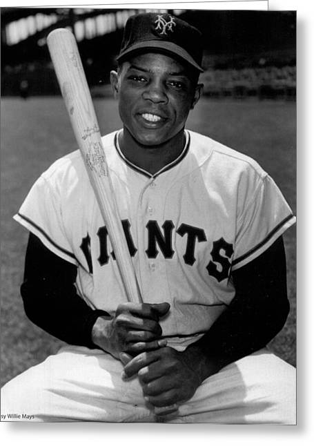 National League Baseball Photographs Greeting Cards - Willie Mays Greeting Card by Gianfranco Weiss