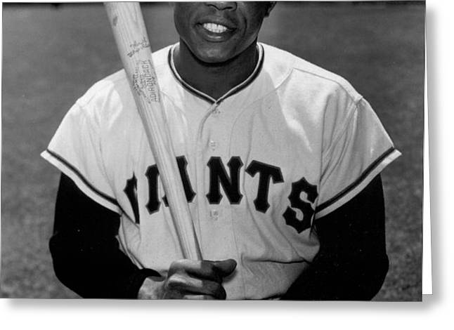 Willie Mays Greeting Card by Gianfranco Weiss