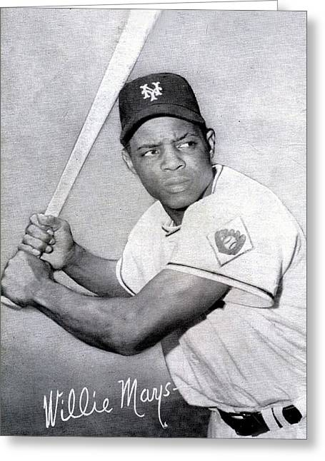 Willie Greeting Cards - Willie Mays  poster Greeting Card by Gianfranco Weiss