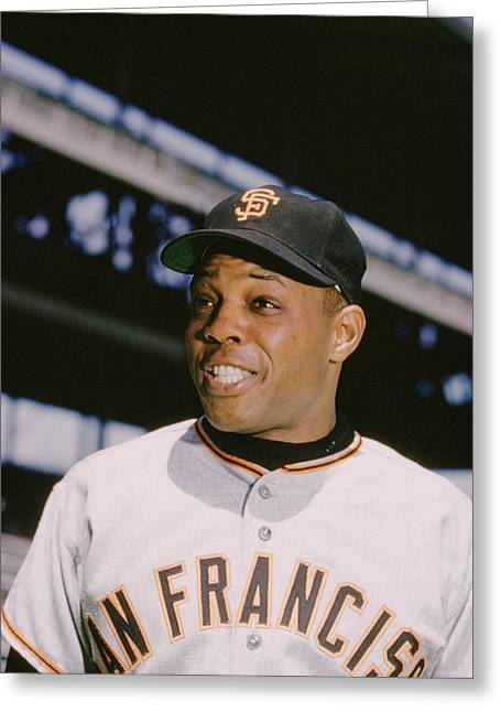 African-american Greeting Cards - Willie Mays Smiles Greeting Card by Retro Images Archive