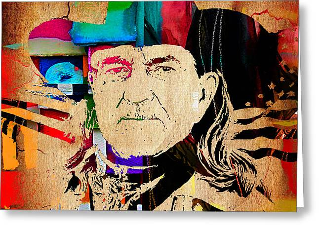 Willie Nelson Collection Greeting Card by Marvin Blaine