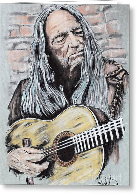 Willie Greeting Cards - Willie Nelson Greeting Card by Melanie D