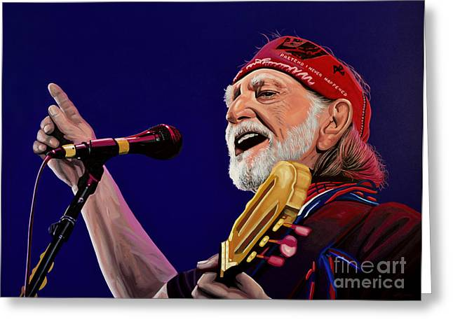 Bible Greeting Cards - Willie Nelson Greeting Card by Paul  Meijering