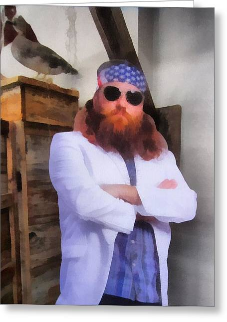 Duck Dynasty Greeting Cards - Willie Robertson Duck Dynasty Greeting Card by Dan Sproul