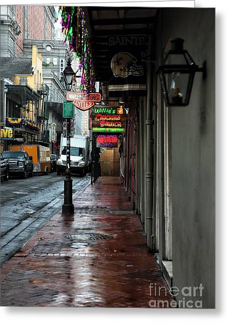 Rue Bourbon Greeting Cards - Willies Greeting Card by John Rizzuto