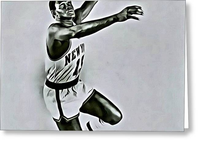 Willis Reed Greeting Card by Florian Rodarte