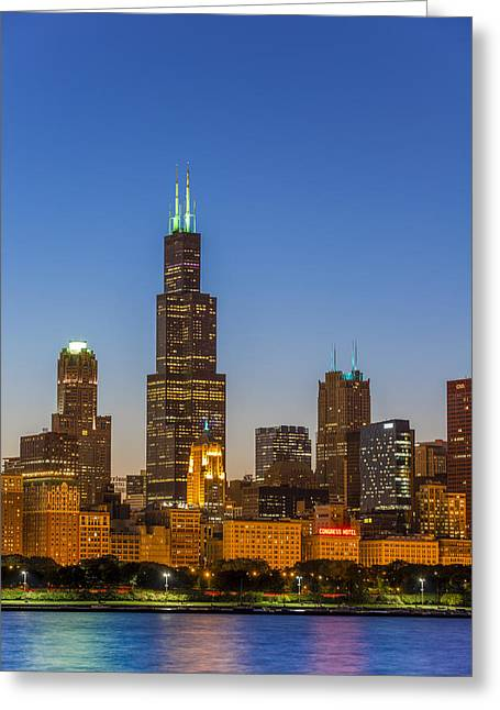 Modern Photographs Greeting Cards - Willis Tower Greeting Card by Sebastian Musial