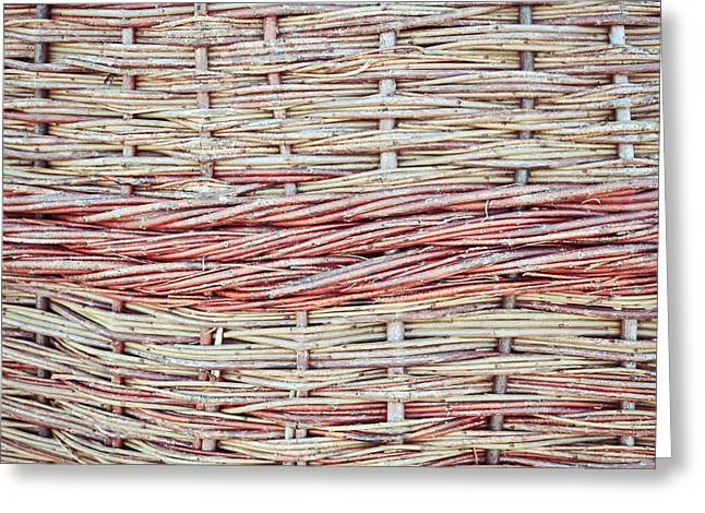 Wattle Greeting Cards - Willow fiber Greeting Card by Tom Gowanlock