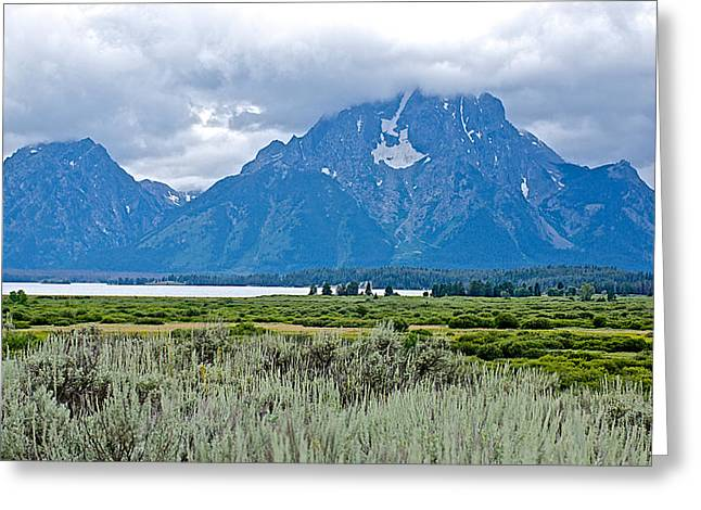 Willow Lake Digital Art Greeting Cards - Willow Flats Overlook in Grand Teton National Park-Wyoming   Greeting Card by Ruth Hager