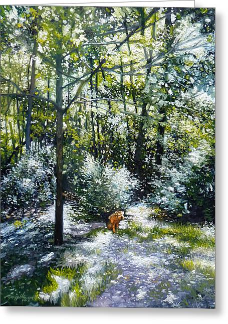 Dappled Light Paintings Greeting Cards - Willow Greeting Card by Gregg Hinlicky