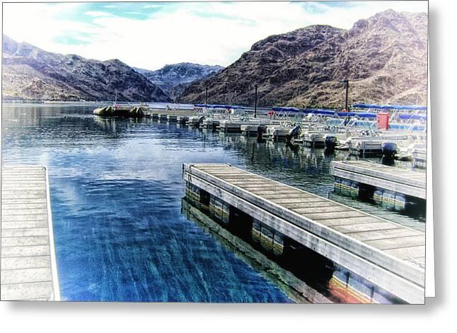 Willow Lake Digital Art Greeting Cards - Willow Lake in Arizona Greeting Card by Tricia Marchlik