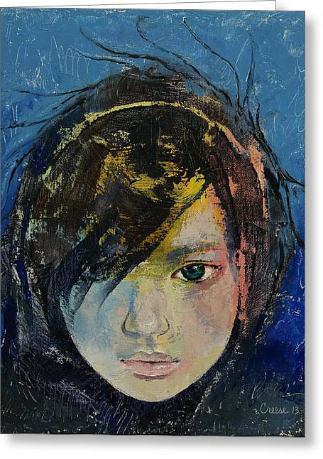 Enfants Greeting Cards - Willow Greeting Card by Michael Creese