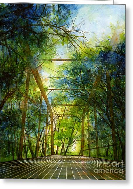 Truss Greeting Cards - Willow Springs Road Bridge Greeting Card by Hailey E Herrera
