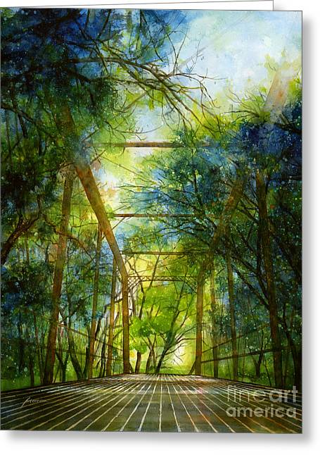 Willow Springs Road Bridge Greeting Card by Hailey E Herrera