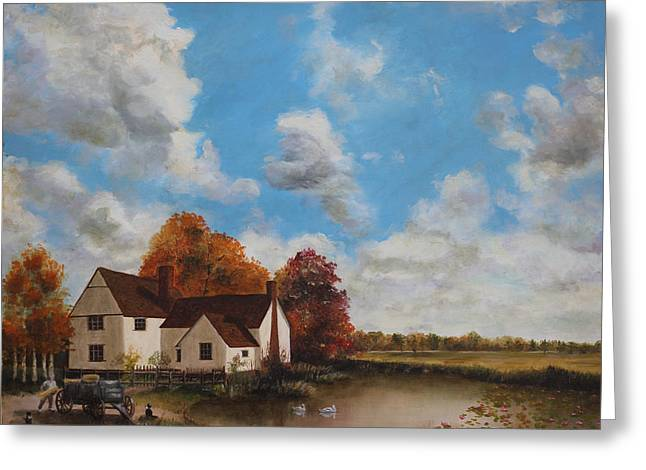 Willy Lott's Cottage Greeting Card by Cecilia  Brendel