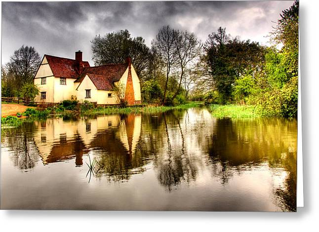 Constable Greeting Cards - Willy Lotts Cottage Greeting Card by Peter Smith