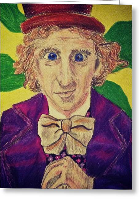 Willy Wonka Greeting Card by Jessica Sanders