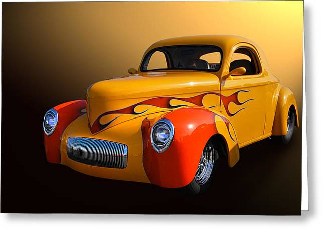 Willys 3 Greeting Card by Bill Dutting