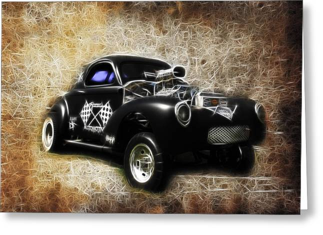 1950 Merc Greeting Cards - Willys Coupe Greeting Card by Steve McKinzie