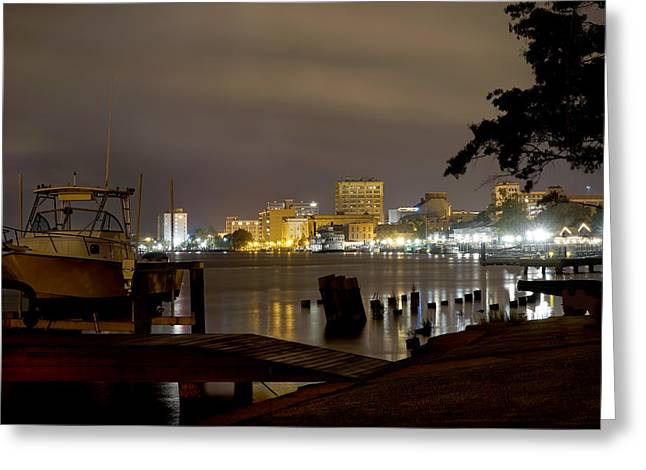Cape Greeting Cards - Wilmington Riverfront - North Carolina Greeting Card by Mike McGlothlen