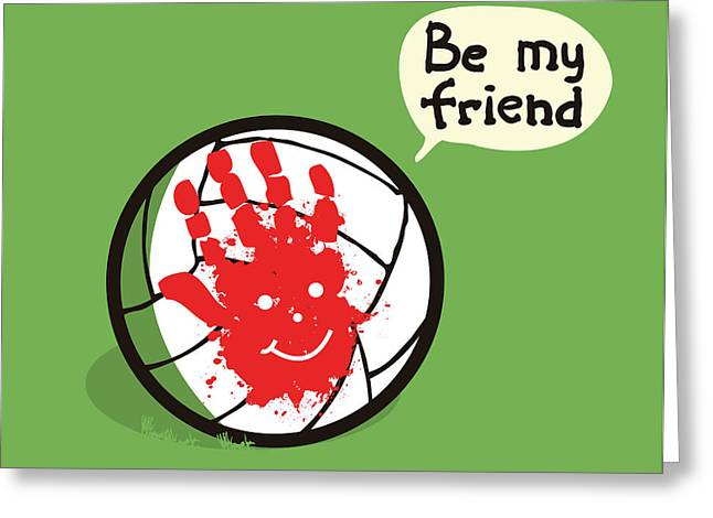 Volley Greeting Cards - Wilson best friend forever Greeting Card by Budi Kwan