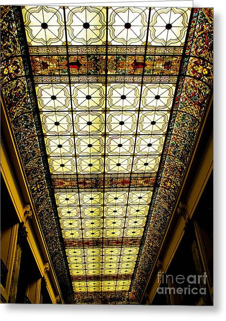 Wilson Hall Ceiling Greeting Card by Colleen Kammerer