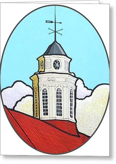 Wilson Hall Cupola - Jmu Greeting Card by Jim Harris