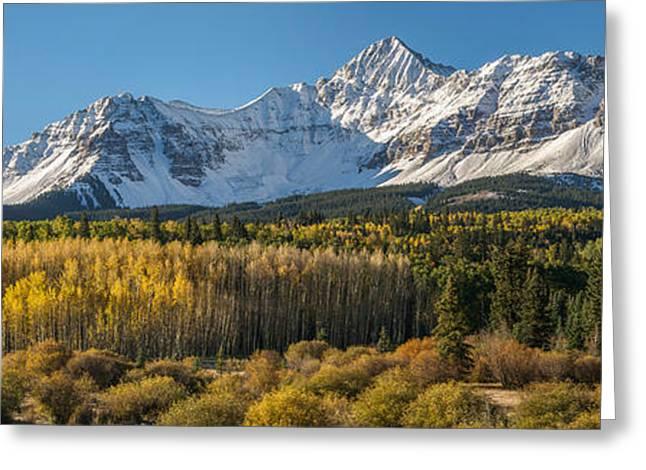 Mount Wilson Greeting Cards - Wilson Peak Panorama Greeting Card by Aaron Spong