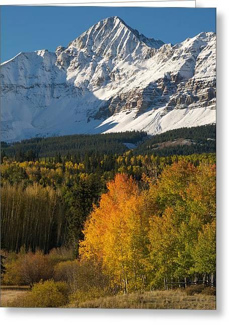 Mount Wilson Greeting Cards - Wilson Peak Vertical Greeting Card by Aaron Spong