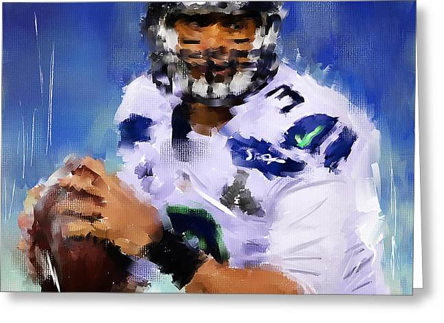 American Football Paintings Greeting Cards - Wilson Winner Greeting Card by Lourry Legarde