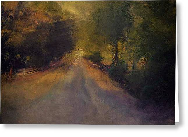 Wilsonville road Greeting Card by W i L L Alexander