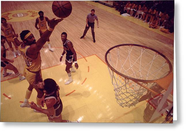Compete Photographs Greeting Cards - Wilt Chamberlain Finger Roll  Greeting Card by Retro Images Archive