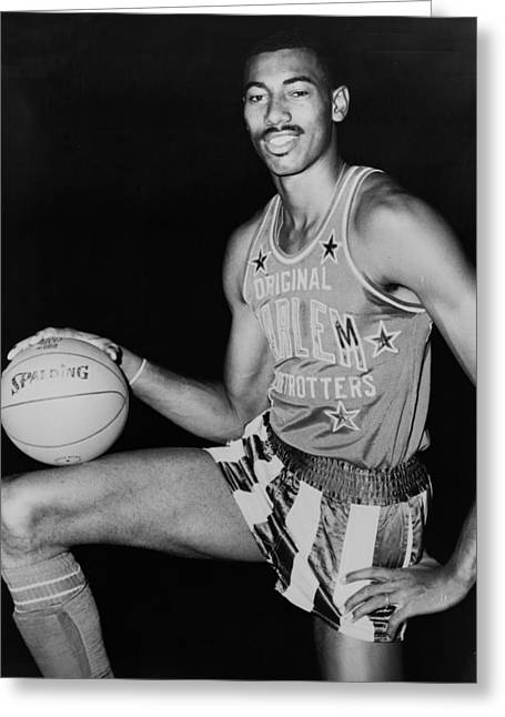 Rookie Of The Year Greeting Cards - Wilt Chamberlain Greeting Card by Fred Palumbo