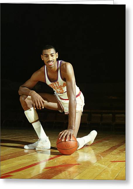 76ers Greeting Cards - Wilt Chamberlain Greeting Card by Retro Images Archive