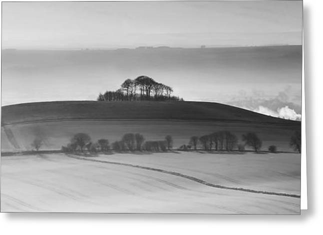 Vale Greeting Cards - Wiltshire landscape Greeting Card by Nigel Forster