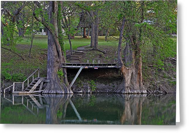 Wimberley Greeting Cards - Wimberley Creek Greeting Card by Scotty Burch