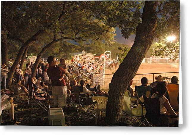 Wimberley Greeting Cards - Wimberley Rodeo Greeting Card by Robert Anschutz