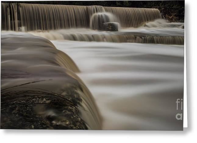 Floods Greeting Cards - Wimberley Waterfall Greeting Card by Richard Mason