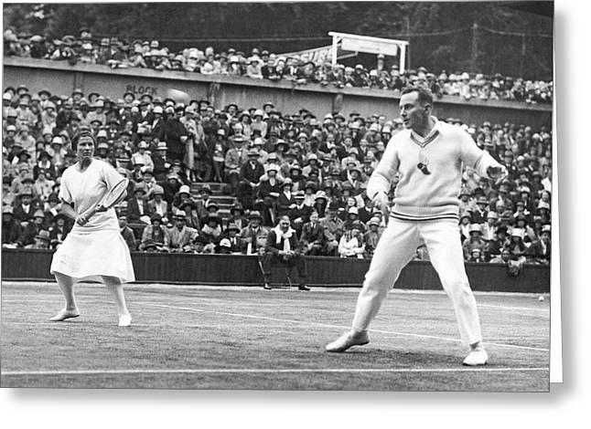 Wimbledon Photographs Greeting Cards - Wimbledon Championship Play Greeting Card by Underwood Archives
