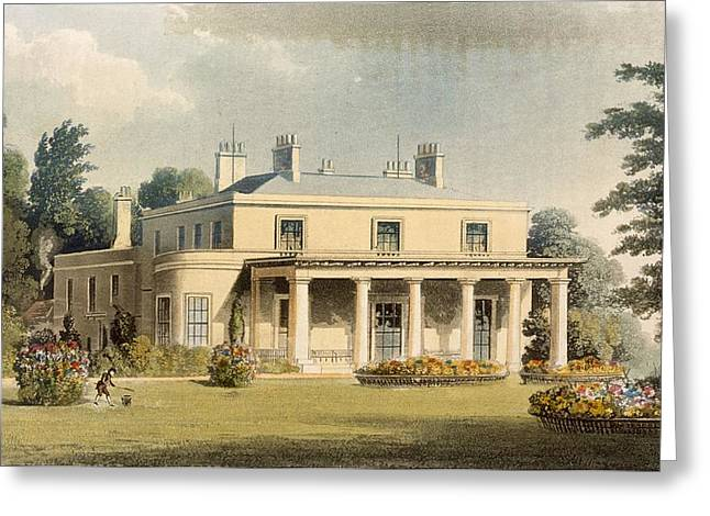Owned Greeting Cards - Wimbledon Park, From R. Ackermanns Greeting Card by Thomas Hosmer Shepherd