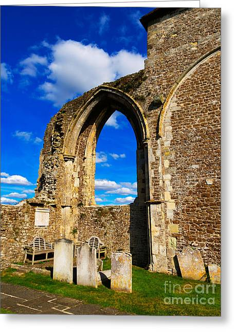 Historic England Photographs Greeting Cards - Winchelsea Church Greeting Card by Louise Heusinkveld