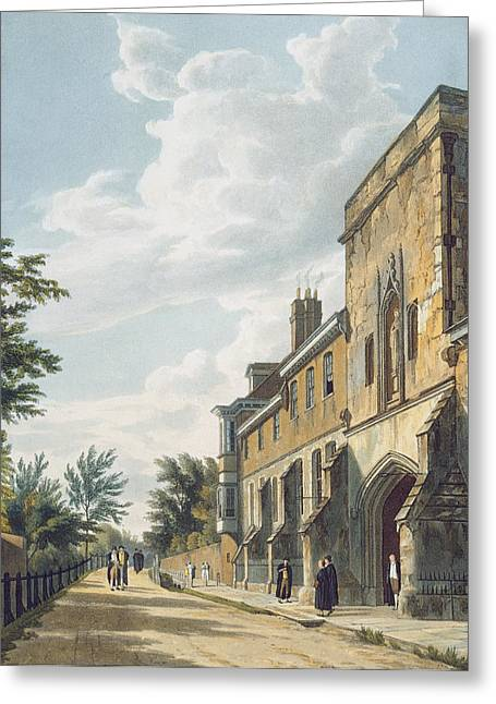 Public Schools Greeting Cards - Winchester College Entrance Greeting Card by William Westall