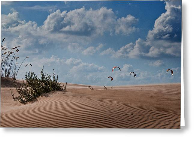 Kite Surfing Greeting Cards - Wind 2 Greeting Card by Gilad Koriski